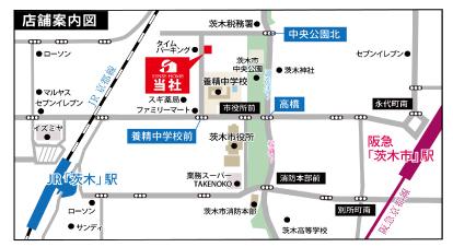 センスホーム,店舗案内地図